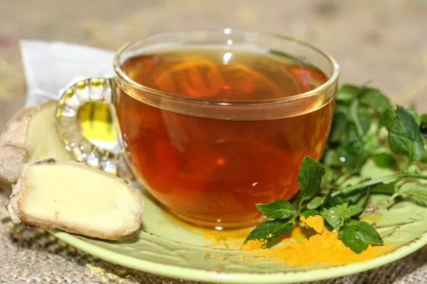 Ginger Mint Turmeric tea