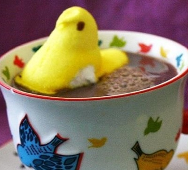 Marshmallow Peeps Hot Chocolate