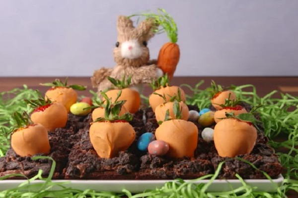 Easter Carrot Patch Brownies