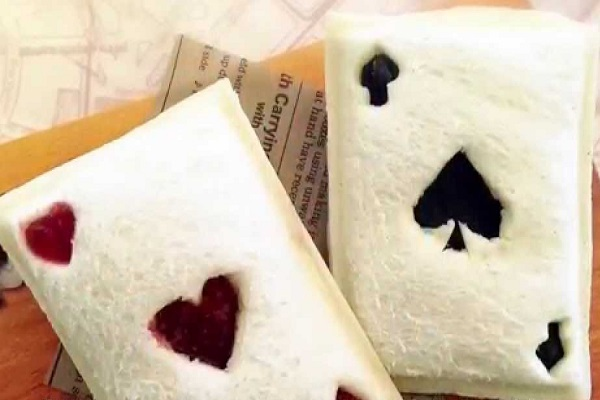 Playing Card Shaped Pocket Sandwiches