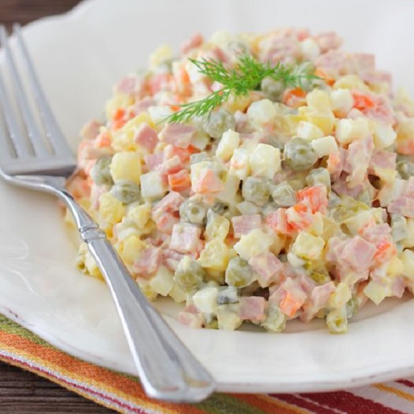 Traditional Olivier Salad