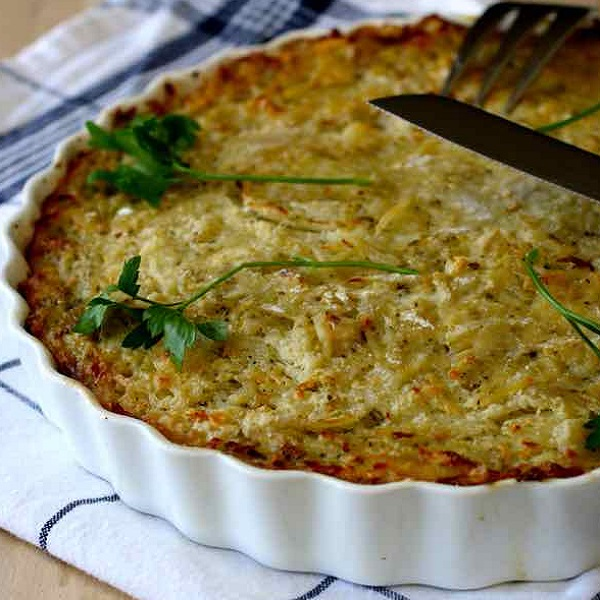 Traditional Bulgarian Patatnik (Potato Dish)