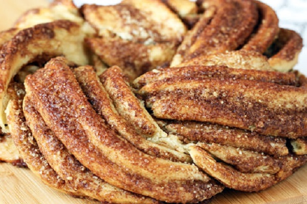 Traditional Estonian Kringle (Cinnamon Braid Bread)