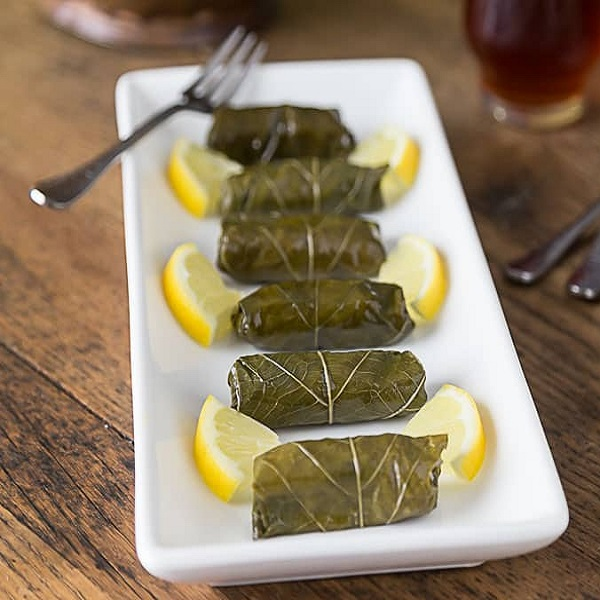 Traditional Azerbaijani Dolmas (Stuffed Grape Leaves)