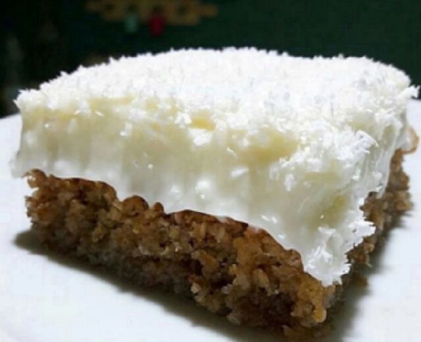 Traditional Cypriot Trilece (Coconut Cake)