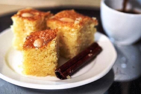 Traditional Cypriot Kalo Prama (Semolina Cake)