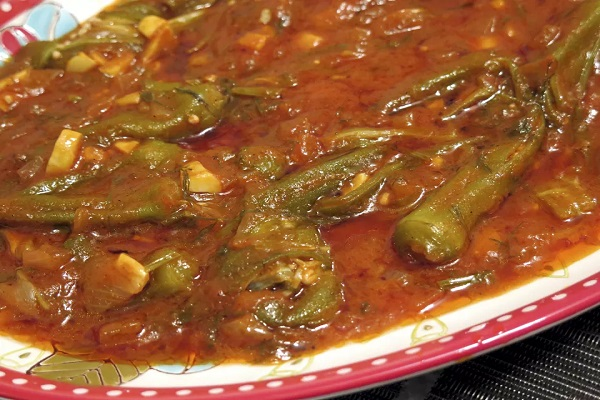 Traditional Cypriot Bamies (Stewed Okra)
