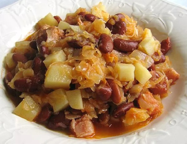 Traditional Slovenian Jota (Bean and Sauerkraut Hotpot)