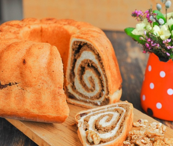 Traditional Slovenian Belokranjska Povitica (Walnut Sweet Roll)