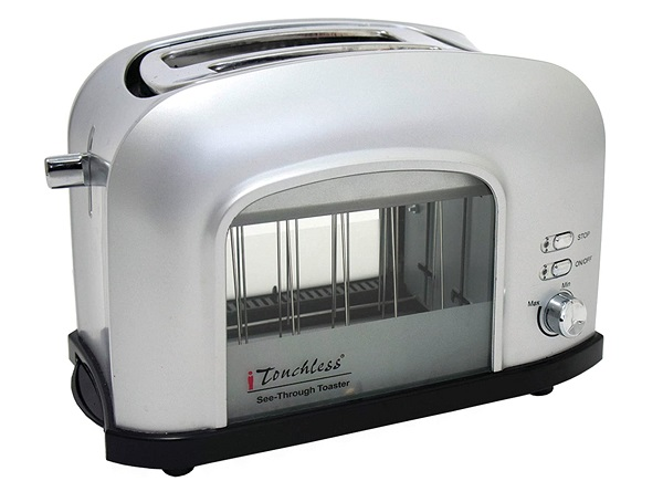 iTouchless SHT2GS 2-slice See-Through Smart Toaster