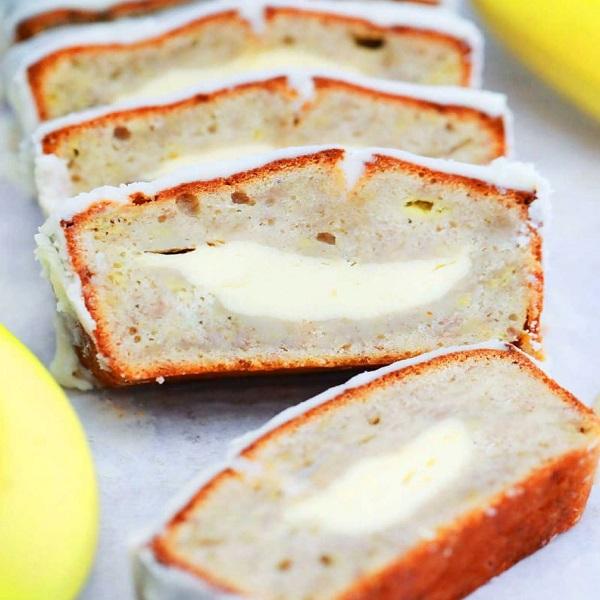 Banana Cheesecake Dessert Bread