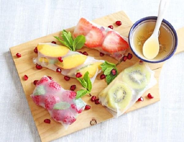 Summer Fruit Spring Rolls