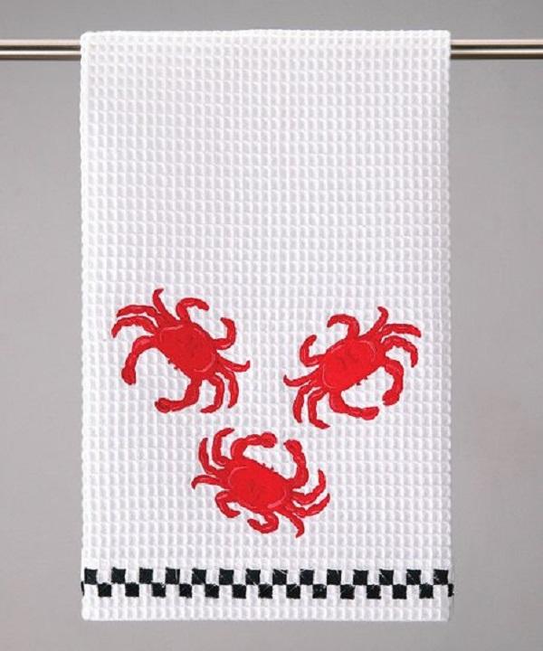 Rpavelbd Handicraft Crab Kitchen Towel