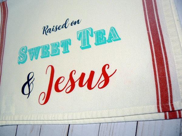 Tea and Jesus Dish Cloth