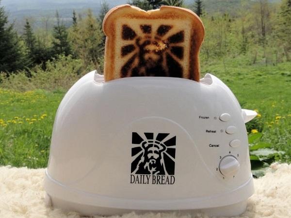 Burnt Impressions Jesus Toaster