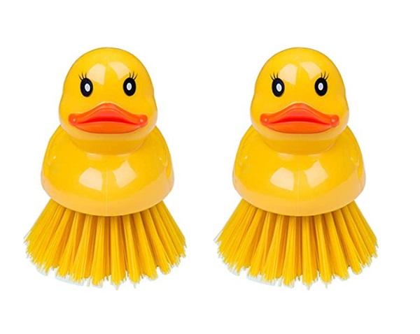 Kilmila 2 Pack Ducky Washing Dish Brushes