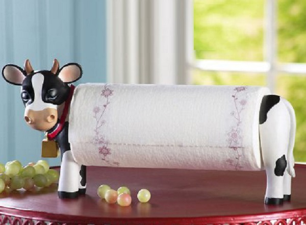 Gadget Sharp Cow Kitchen Roll Holder