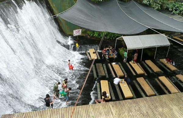 Labassin Waterfall Restaurant, Villa Escudero Resort, Philippines