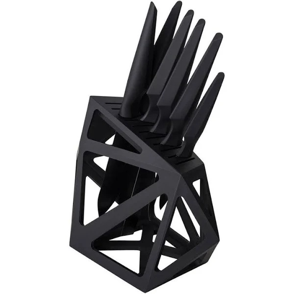 Edge of Belgravia Black Diamond Knife Block by Wayfair