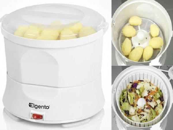 Elgento White Automatic Electric Potato Peeler