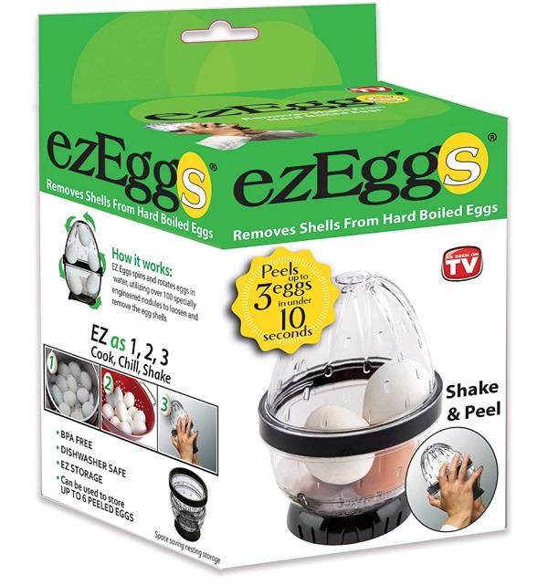 EZ EGGS Hard Boiled Egg Peeler