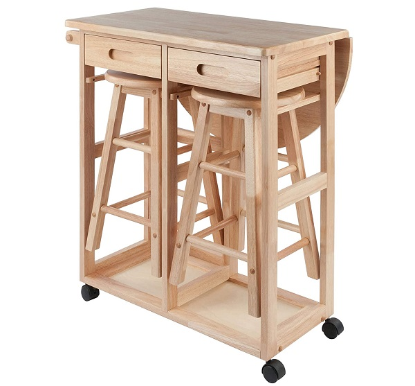Get A Foldable Kitchen Table And Tuck In Stools