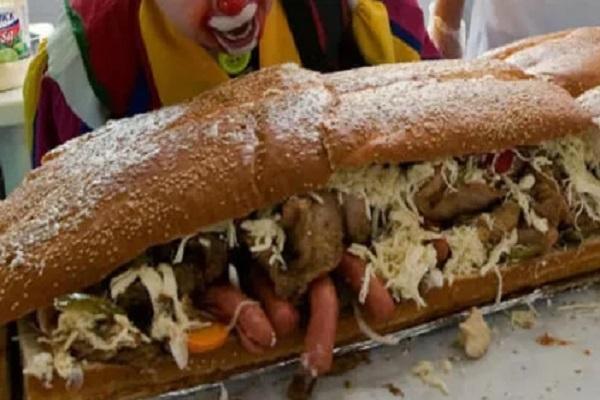 The World's Biggest Ever Ostrich Sandwich
