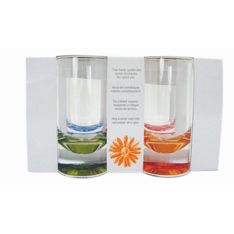 verre a eau acrylique transparent par 4