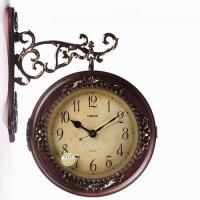 Double Sided Wood Clock: Big Wall Clocks - WWW.TOP-CLOCKS.COM