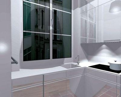 modele de cuisine moderne avec ilot