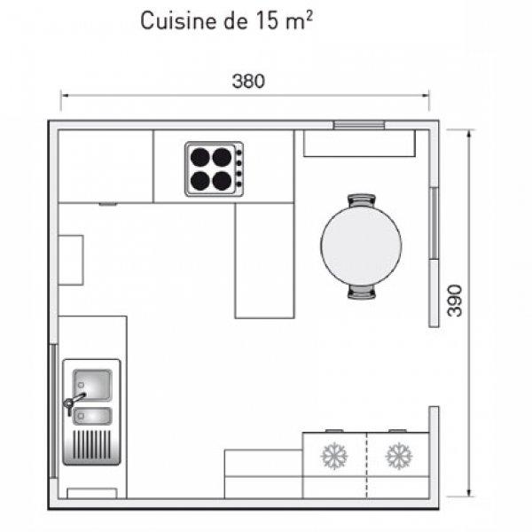 Cuisine 15m2 Ilot Centrale