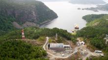 Seekabeleinzug NordLink Vollesfjord Norwegen Kabelschiff Skagerrak und DC Mast