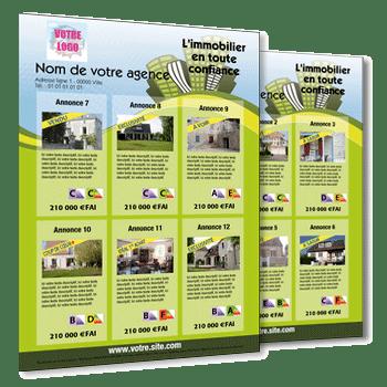 Flyer Immobilier Pour 12 Annonces De Biens Immo