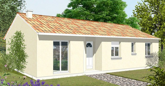 Affordable plan maison m plan maison toit plat gratuit gt for Refection de toiture prix au m2