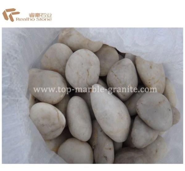 polished white landscape stone
