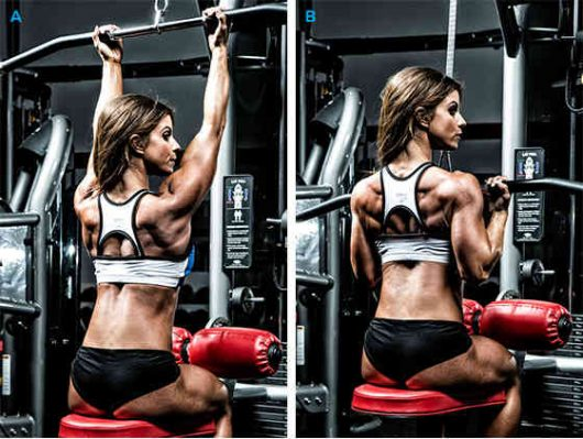 Image result for reverse grip close grip pulldowns girl