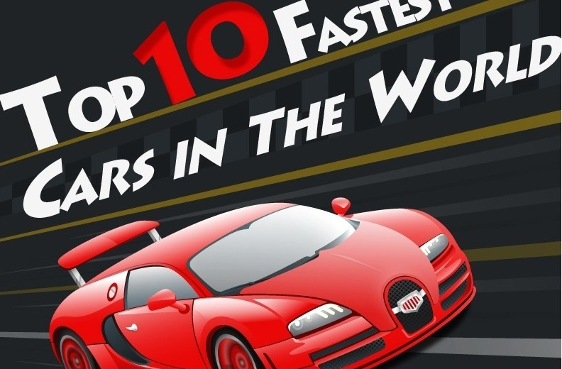 Top 10 Fastest Cars in the World ( INFOGRAPHIC)