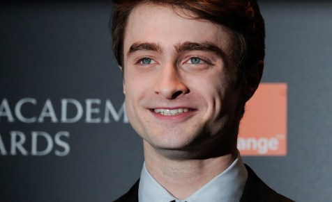 British actor Daniel Radcliffe poses for
