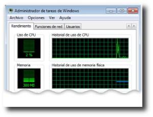 9. Uso de la CPU al 100 todo el tiempo.
