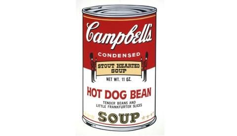 Lata de sopa Campbell