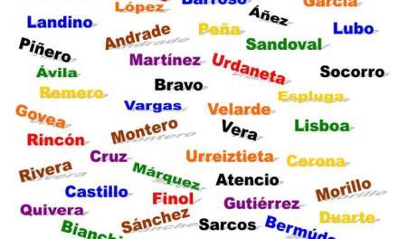 Los 10 apellidos más comunes en México