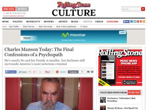 La última confesión del psicopata Charles Manson