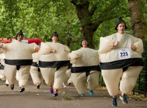 maratón en traje de sumo