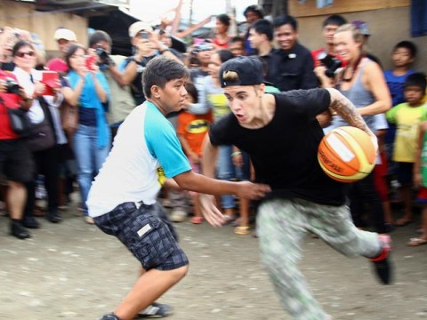 PHILIPPINES-BIEBER-WEATHER-TYPHOON-ENTERTAINMENT