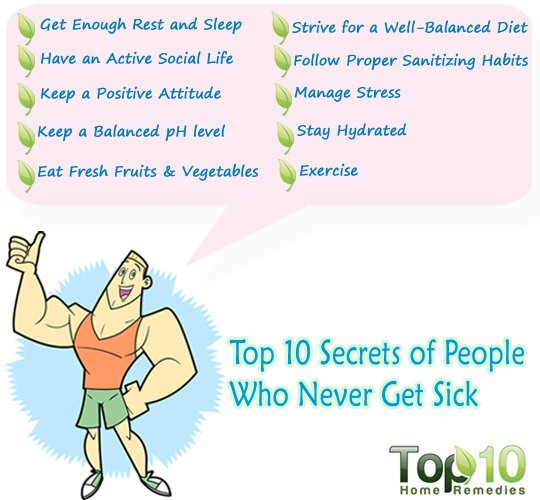 Top 10 Secrets of People Who Never Get Sick  Top 10 Home