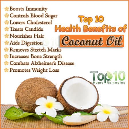 Top 10 Health Benefits Of Coconut Oil Top 10 Home Remedies