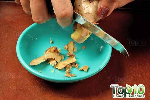 DIY ginger tea step1