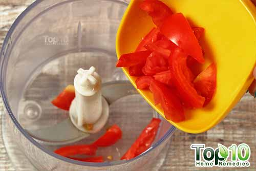 tomato antitan beauty mask step1
