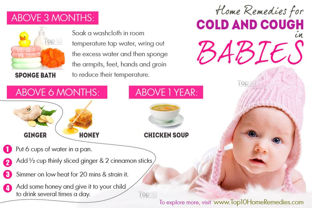 Home Remedies for Colds and Coughs in Babies   Top 10 Home ...