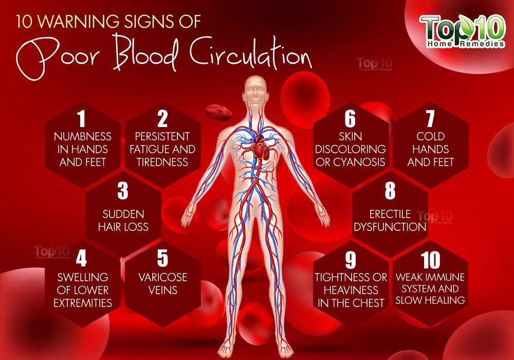 10 Warning Signs of Poor Blood Circulation | Top 10 Home ...